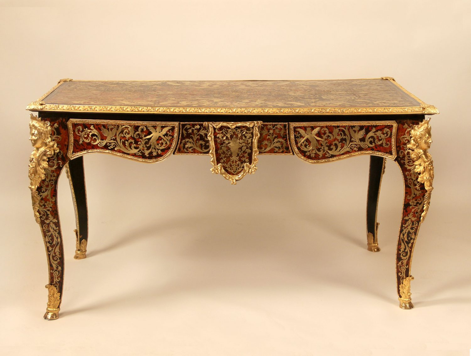19th Century Antique Center Table Concept by French Cabinetmaker André Charles Boulle
