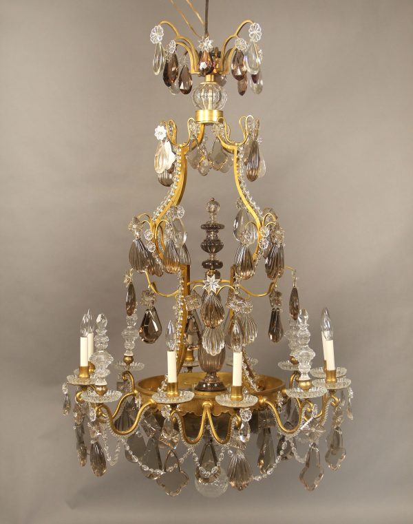 Very Special Late 19th Early 20th Century Crystal Chandeliers - Gilt Bronze & Baccarat Crystal Sixteen Light Chandelier