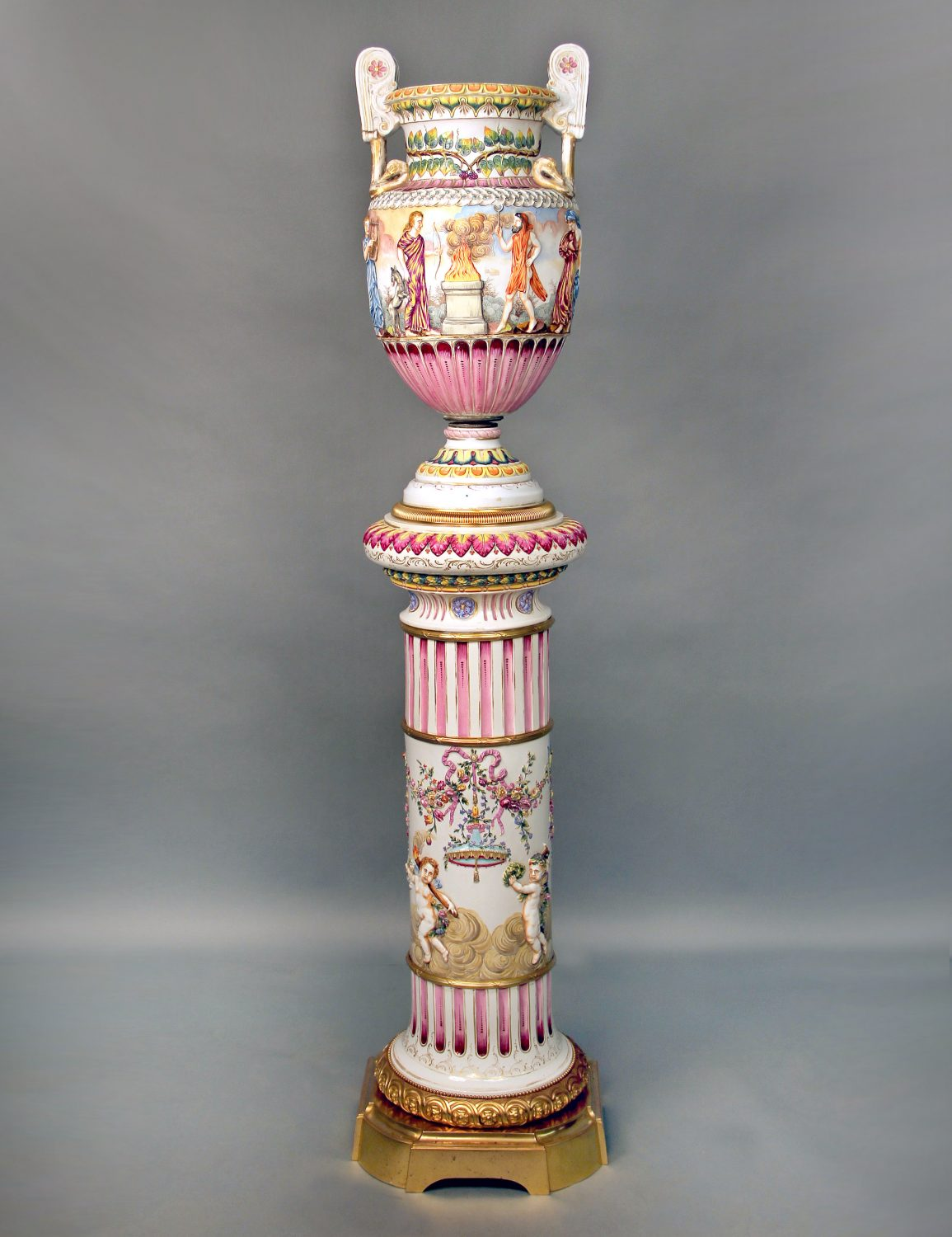 A Large And Interesting Late 19th Century Gilt Bronze And Italian Capodimonte Porcelain Vase And Pedestal Charles Cheriff Galleries,Data Entry Jobs Online From Home Without Investment