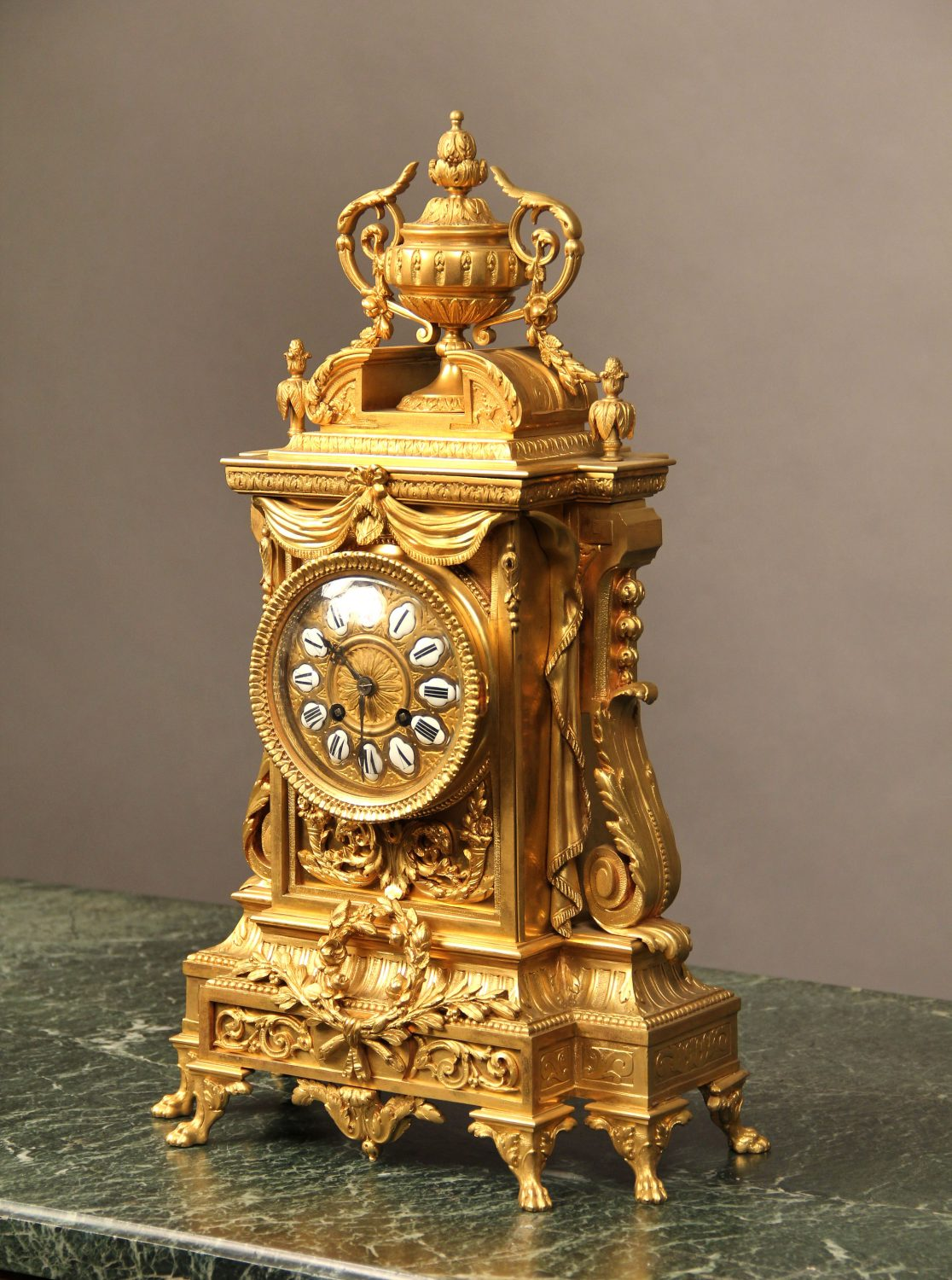 Late 19th Century French Antique - Gilt Bronze Mantle Clock