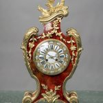 Late 19th Century French Antique - Gilt Bronze & Red Tortoiseshell Mantle Clock