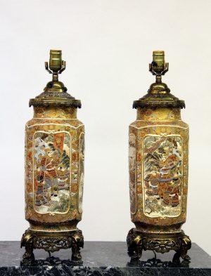 Antique Porcelain Lamps & Centerpieces