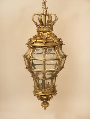 19th Century hanging bronze lanterns