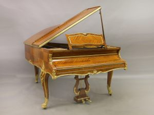 20th Century Louis XV Style Gilt Bronze Mounted Three Leg Grand Erard Piano By François Linke