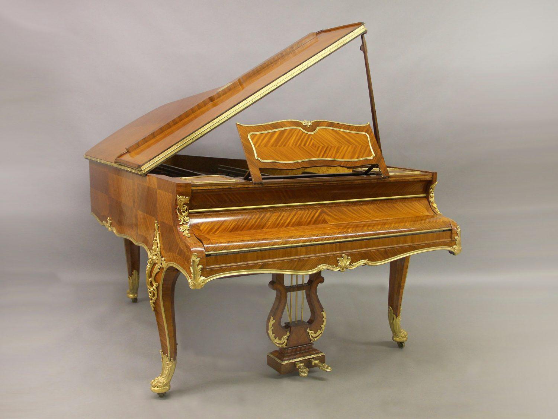 20th Century Louis XV Style Gilt Bronze Mounted Three Leg Grand Erard Piano By François Linke