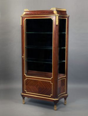 19th Century Louis XVI Style Vitrine by Victor Raulin