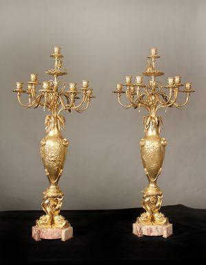 "19th Century ""Japonisme"" 10-light Candelabras"