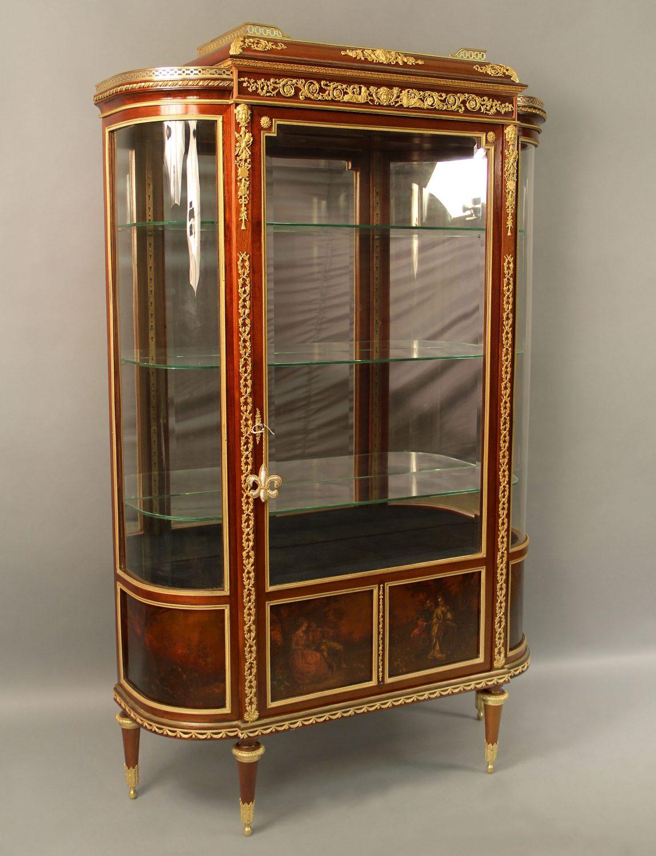 19th Century Louis XVI Style Vernis Martin Vitrine