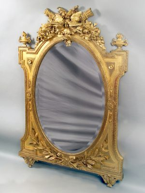 19th Century Giltwood & Bronze Mirrors
