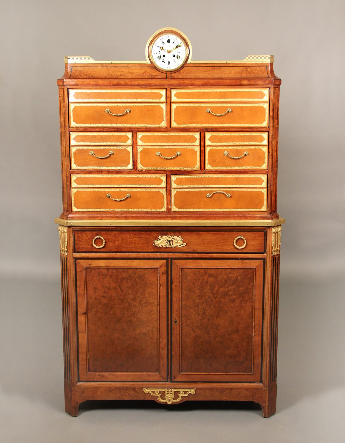 Rare Late 19th Century Antique French Secretary Cabinet By Antoine Krieger