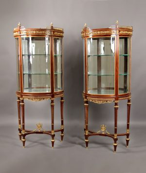 Pair of Louis XVI Style Vitrines by Paul Sormain