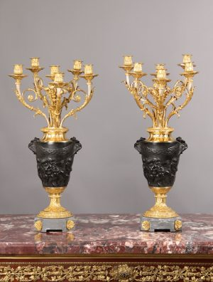 19th Century 6-light Candelabras for Sale