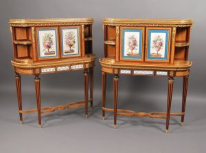 Two 19th Century Sevres Style Cabinets