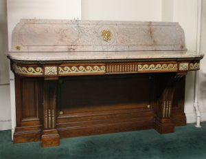 19th Century Antique Marble Top Dining Room Console and Server