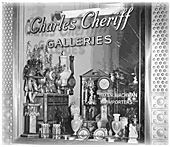 Storefront of Charles Cheriff Galleries in 1951
