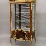 Beautiful Late 19th Century French Antique - Louis XV Style Gilt Bronze Mounted Vernis Martin Vitrine by Francois Linke