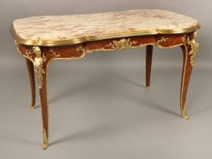 Superb Late 19th Century French Antique - Gilt Bronze Mounted Center Table by Francois Linke