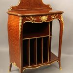 Unique Late 19th Century Antique French Style Cabinets Sold in NYC - Gilt Bronze Mounted Parquetry Cabinet by Francois Linke